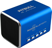 RockDoc - Pitbull BLUETOOTH Portable 2-Way Speaker For Most Bluetooth-Enabled Devices - Blue