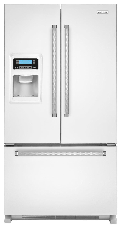 KitchenAid - 19.7 Cu. Ft. Counter-Depth French Door Refrigerator - White