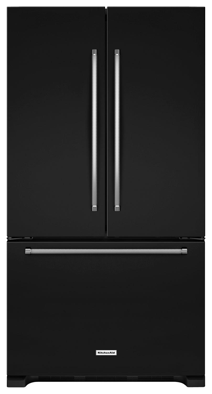 KitchenAid - 25.2 Cu. Ft. French Door Refrigerator - Black