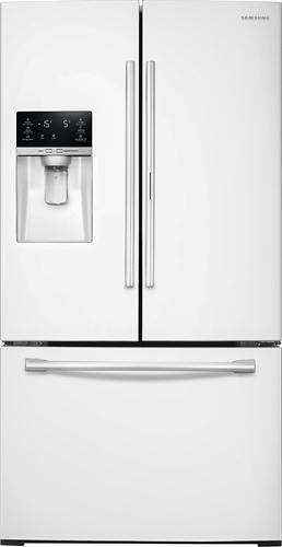 Samsung - 27.8 Cu. Ft. French Door Refrigerator - White