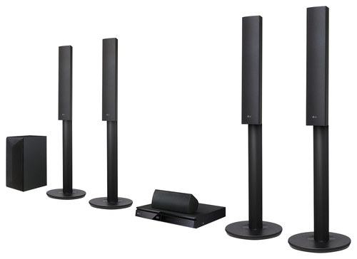 LG - 1000W 5.1-Ch. 3D / Smart Blu-ray Home Theater System - Black