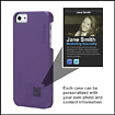 Findables - Snap Case for Apple iPhone 5 - Purple/Lime