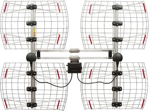 Antennas Direct - Multidirectional Outdoor HDTV Antenna - Black/Silver