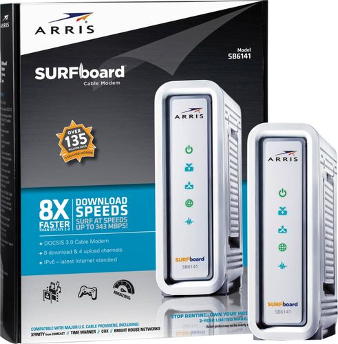 Arris - SURFboard Docsis 3.0 High-Speed Cable Modem - Silver