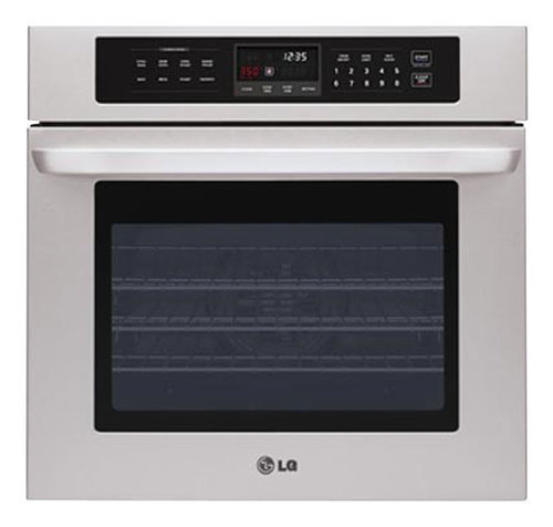LG - 30 Built-In Single Electric Convection Wall Oven - Stainless Steel (Silver)