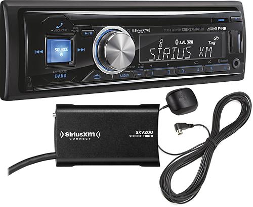 Alpine - CD - Built-In Bluetooth - In-Dash Deck with Satellite Radio Tuner - Black
