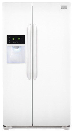 Frigidaire - Gallery 25.6 Cu. Ft. Side-by-Side Refrigerator - Pearl (White)