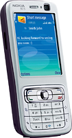 Nokia - N73 Mobile Phone (Unlocked) - Silver/Plum