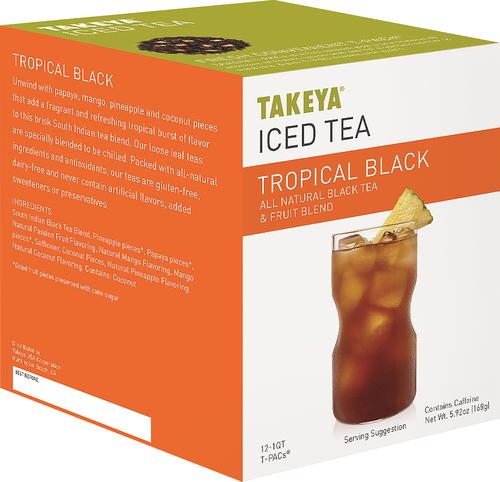 Takeya - Tropical Black Iced Tea Packets (12-Pack) - Orange