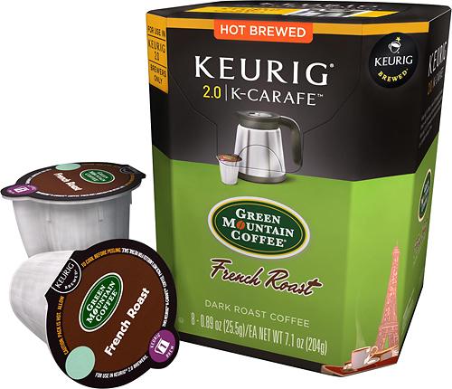 Keurig - Green Mountain French Roast K-Carafe Pods (8-Pack) - Multi