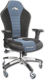 AK Designs - Octane PC Gaming and Office Chair - Black/Blue - OK1