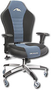 AK Designs Octane PC Gaming and Office Chair - Black/Blue