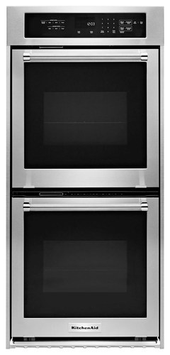 KitchenAid - 24 Built-In Double Electric Convection Wall Oven - Stainless Steel (Silver)