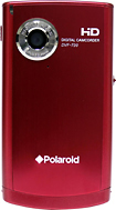 Polaroid - DVF-720 32MB HD Flash Memory Camcorder - Red