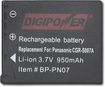 Buy Panasonic Cameras - DigiPower PN07 Rechargeable Lithium-Ion Battery for Panasonic DMC-TZ1 Digital Cameras