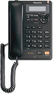 Panasonic - Corded Speakerphone with Call-Waiting Caller ID - Black