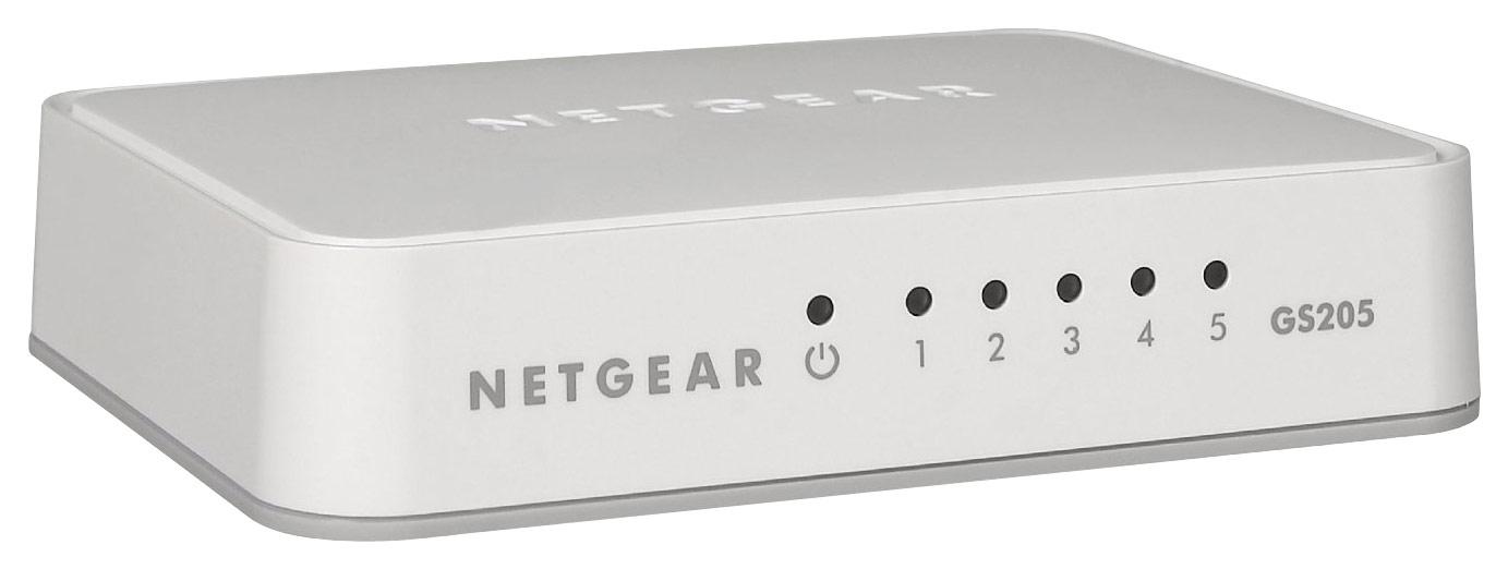 NETGEAR - 200 Series Unmanaged Soho 5-Port 10/100/1000 Gigabit Switch - White