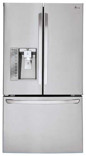 LG - 29.6 Cu. Ft. French Door Smart Refrigerator with Thru-the-Door Ice and Water - Stainless Steel (Silver)