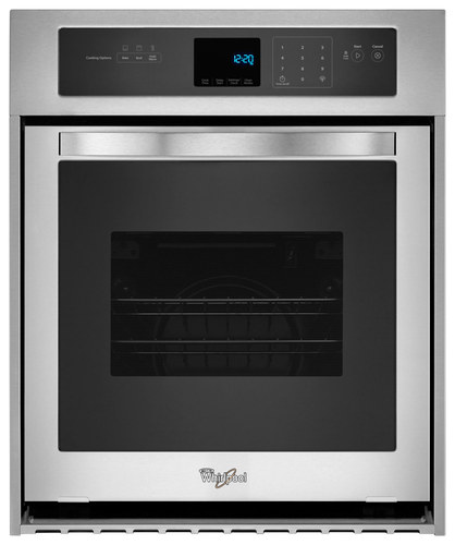 Whirlpool - 24 Built-In Single Electric Wall Oven - Stainless Steel (Silver)