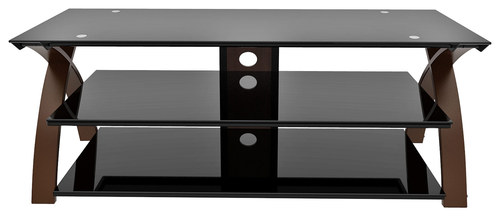 Z-Line Designs - Willow TV Stand for Most Flat-Panel TVs Up to 65 - Black/Espresso (Black/Brown)
