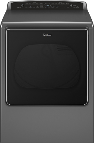 Whirlpool - Cabrio 8.8 Cu. Ft. 23-Cycle Gas Dryer with Steam With Wi-Fi Connectivity - Chrome Shadow