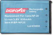 Buy Casio Cameras - DigiPower NP20 Rechargable Lithium-Ion Battery for Select Casio Digital Cameras