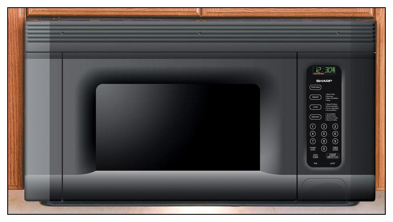 Sharp - 1.4 Cu. Ft. Over-the-Range Microwave - Black