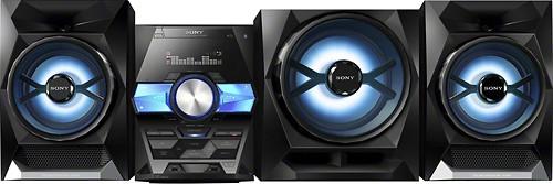 Sony - 1800W Wireless Bookshelf Stereo System - Black
