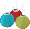 SMART SOLAR INC - Solar-Powered Chinese Lanterns (3-Pack)