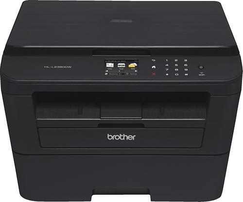 Brother - HL-L2380DW Wireless Black-and-White 3-in-1 Laser Printer - Black