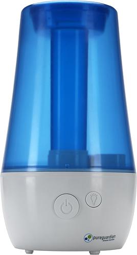 PureGuardian - 1.1-Gal. Ultrasonic Cool Mist Portable Humidifier - White/Blue