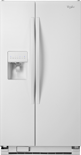 Whirlpool - 25.4 Cu. Ft. Side-by-Side Refrigerator with Thru-the-Door Ice and Water - White