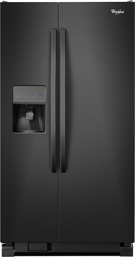 Whirlpool - 25.4 Cu. Ft. Side-by-Side Refrigerator with Thru-the-Door Ice and Water - Black