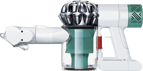 Dyson - V6 Mattress Bagless Cordless Hand Vac - White/Nickel/Teal (White/Nickel/Blue)