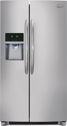 Frigidaire - Gallery 26.0 Cu. Ft. Frost-Free Side-by-Side Refrigerator with Thru-the-Door Ice and Water - Stainless Steel (Silver)