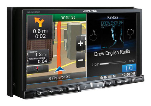 Alpine - 7 - Built-In GPS - CD/DVD - Built-In Bluetooth - Built-In HD Radio - In-Dash Deck - Black