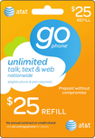 AT&T GoPhone - $25 Prepaid Wireless Airtime Card