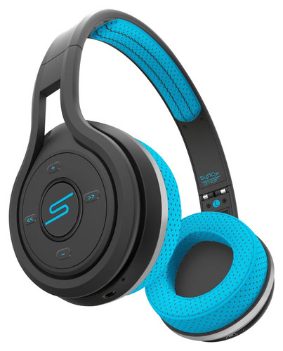 SMS Audio - Sync by 50 Cent Sport Wireless On-Ear Headphones - Blue