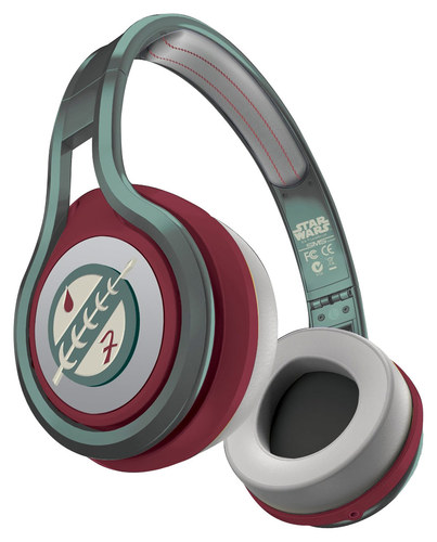 SMS Audio - Star Wars 1st Edition Boba Fett Street by 50 On-Ear Headphones - Green/Maroon/Ivory (Green/Red/Ivory)
