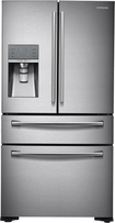 Samsung - 310 Cu Ft 4-Door French Door Refrigerator with Thru-the-Door Ice and Water - Stainless-Steel