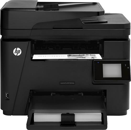 HP - LaserJet Pro m225dw Wireless Black-and-White Laser Printer - Black