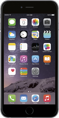 Apple - Refurbished iPhone 6 Plus 16GB - Space Gray (At&t)