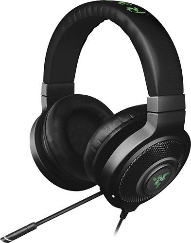 Razer - Kraken 7.1 Chroma Over-the-Ear USB Gaming Headset - Black