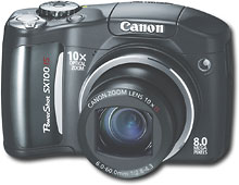 Canon - PowerShot 8.0MP Digital Camera - Black - SX100IS :  digital camera canon