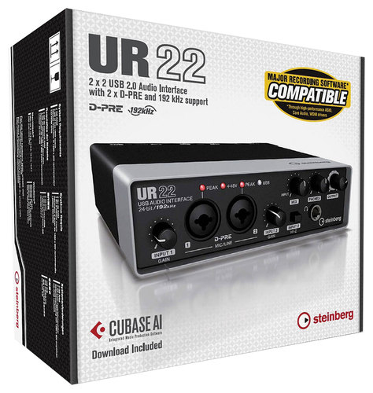 Steinberg - UR22 USB Audio Interface - Black