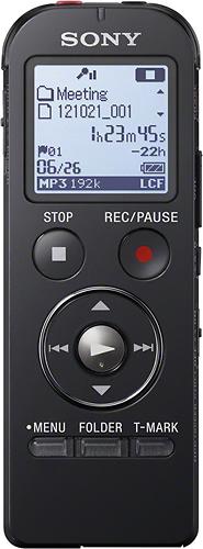 Sony - Digital Voice Recorder - Black