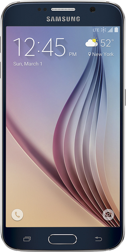 Boost Mobile - Samsung Galaxy S6 4G with 32GB Memory No-Contract Cell Phone - Black