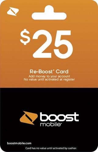 Boost Mobile - $25 Re-Boost Prepaid Phone Card