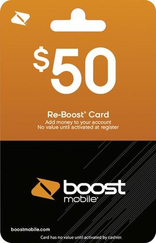 Boost Mobile - $50 Re-Boost Prepaid Phone Card