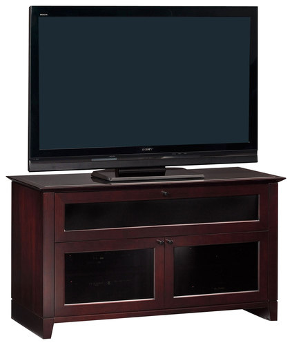 BDI - Novia A/V Cabinet for Most Flat-Panel TVs Up to 55 - Cocoa (Brown)